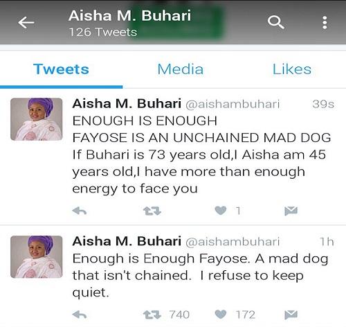 Aisha Buhari Tweets