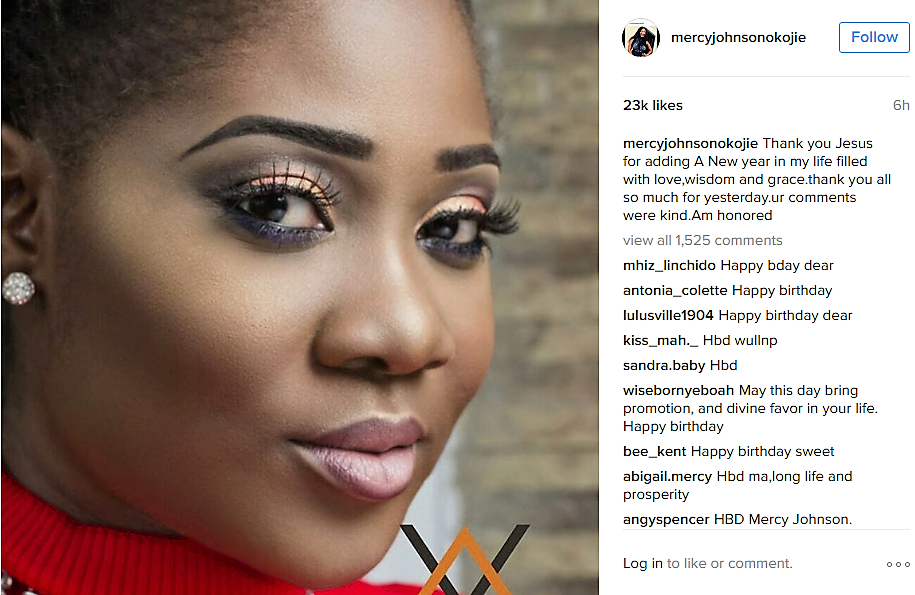 Mercy Johnson Okojie Instagram Birthday Message