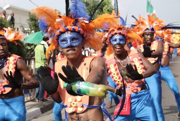Participants at Calabar carnival