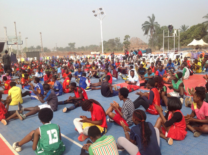 Mark d'Ball basketball clinic for children in Otukpo, Benue
