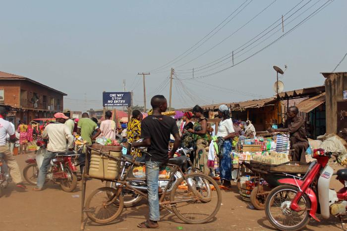 Food vendors in Otukpo, Benue State