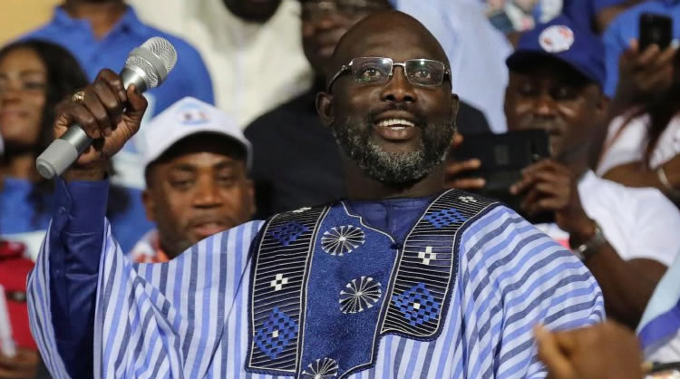 George Weah won election but was stopped by faulty sound-system