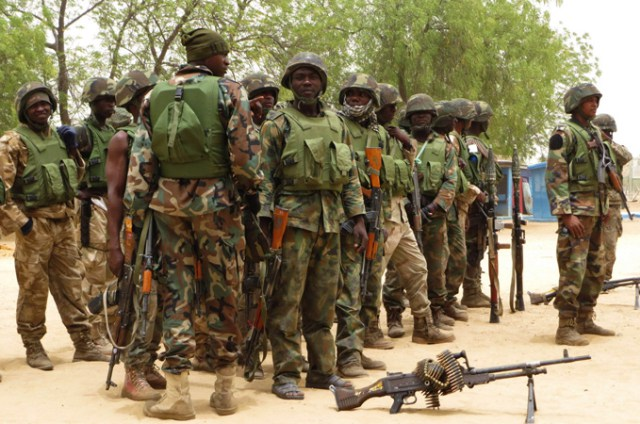 Nigerian soldiers as Army readies for route march in the FCT