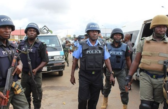 Men of the Nigerian police