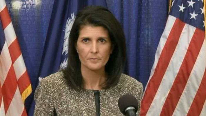 Nikki Haley, the U.S. envoy to the United Nations