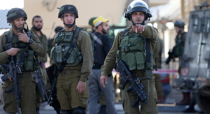 Some soldiers of the Israeli army