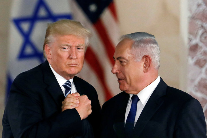 U.S. President Donald Trump with Prime Minister of Israel Benjamin Netanyahu