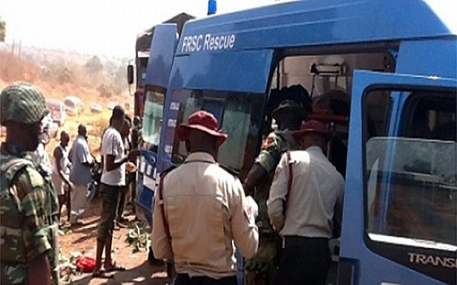 FRSC Rescue Team at an accident scene