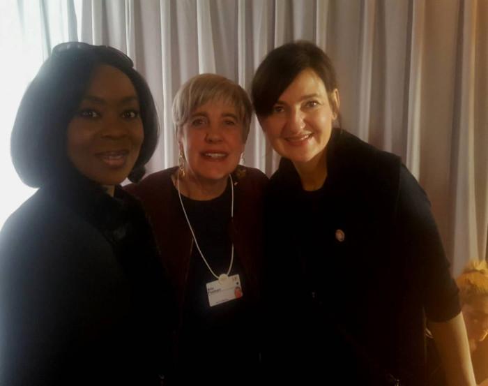 Mrs. Toyin Ojora Saraki with Barbara Bulc, Founder and Pressident of Global Development and Kim Polman, Co-Founder of Reboot the Future