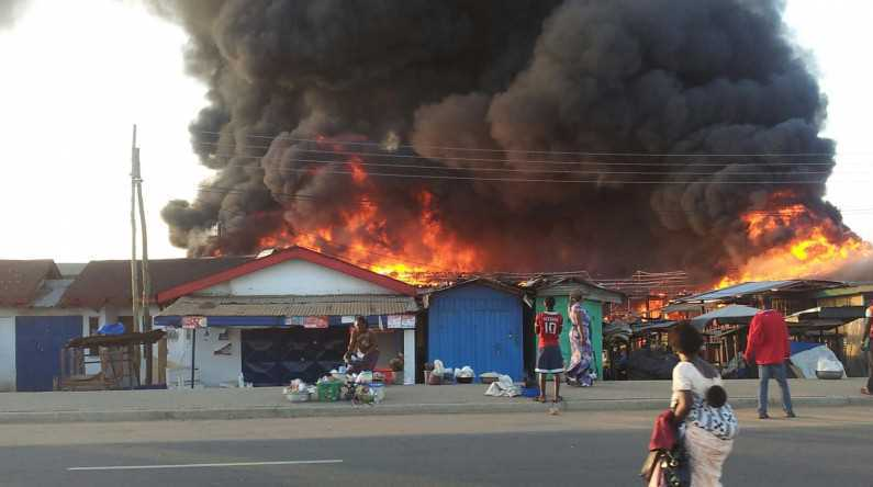 Illustration: Fire incident in a Nigerian market