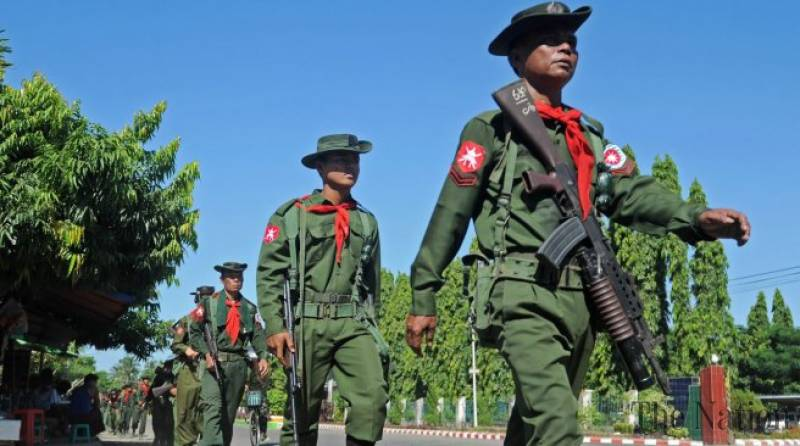 Myanmar security forces ambushed by militants