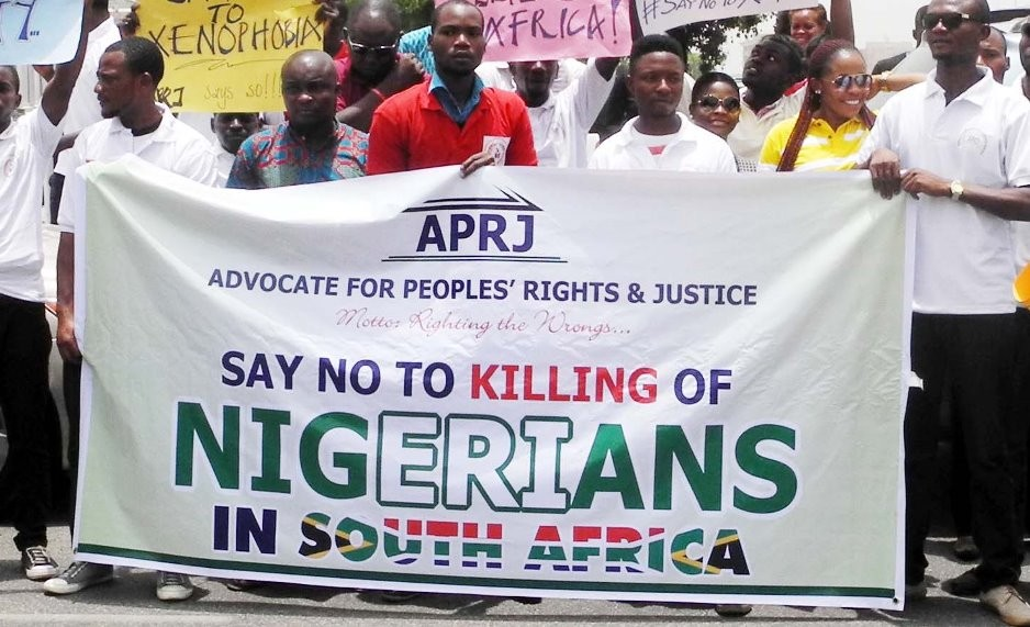 Nigerians in South Africa protest police killings of fellow countrymen