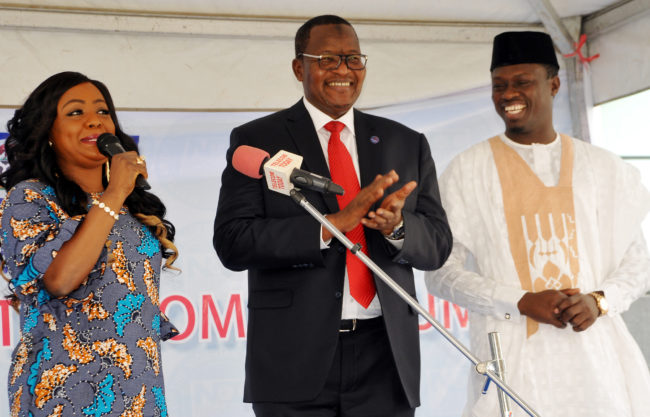 Executive Vice Chairman, Nigeria Communication Commission (NCC), Prof. Umar Dambatta (M) with Faces of the Nigeria Telecom Consumer, as subscribers want stiffer penalty to end unsolicited messages