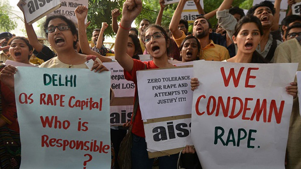Protest against rape in India