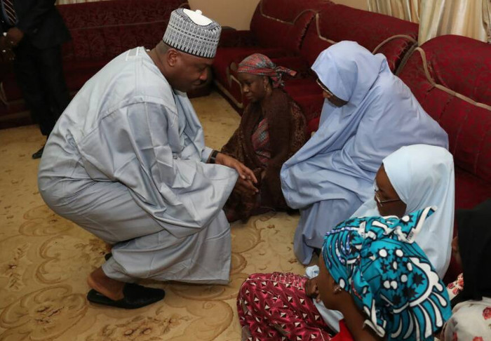 Saraki with Late Lawal Kaita;s widow