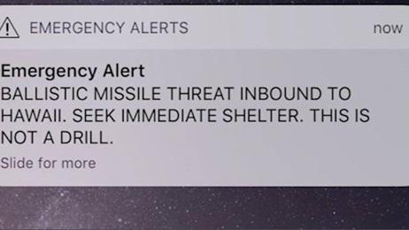 The fake alert