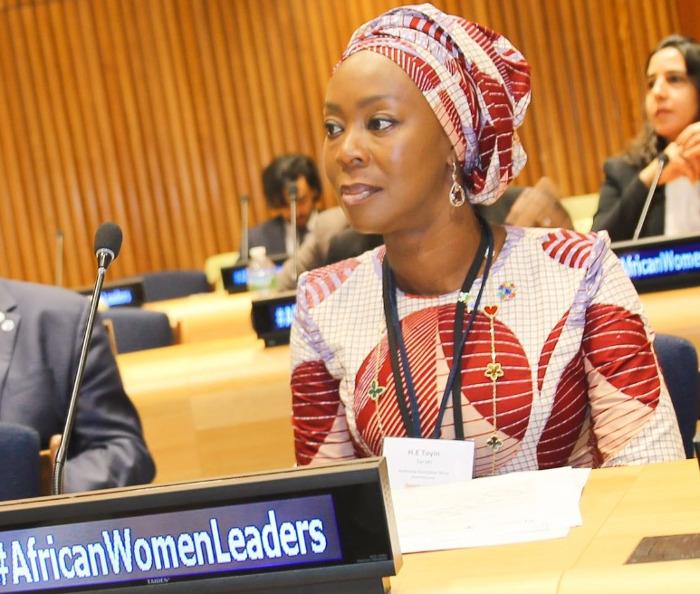 Toyin Saraki advocates for women children at the UN