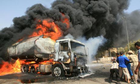 14 dead, 8 houses burnt in petrol tanker fire